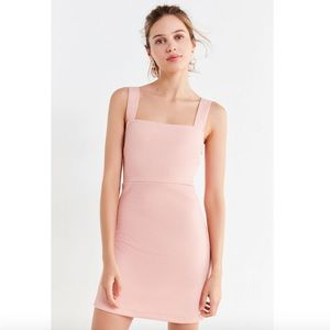 UO Britt Textured Square-Neck Mini Dress
